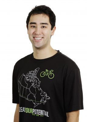 Headshot of Garrett Duff wearing Unleash Your Potential shirt