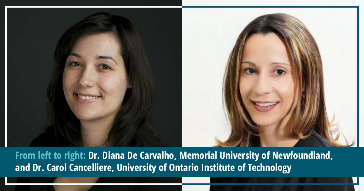 Dr. Diana De Carvalho and Dr. Carol Cancelliere on the balance between a career and motherhood