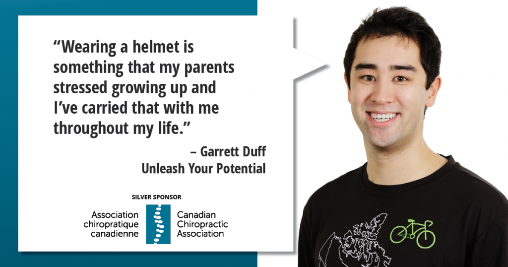"""Wearing a helmet is something that my parents stressed growing up and I've carried that with me throughout my life."""