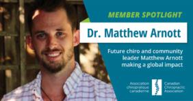 Future chiro and community leader Matthew Arnott making a global impact - CCA